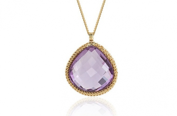Elegant Wedding Accessories Amethyst necklace