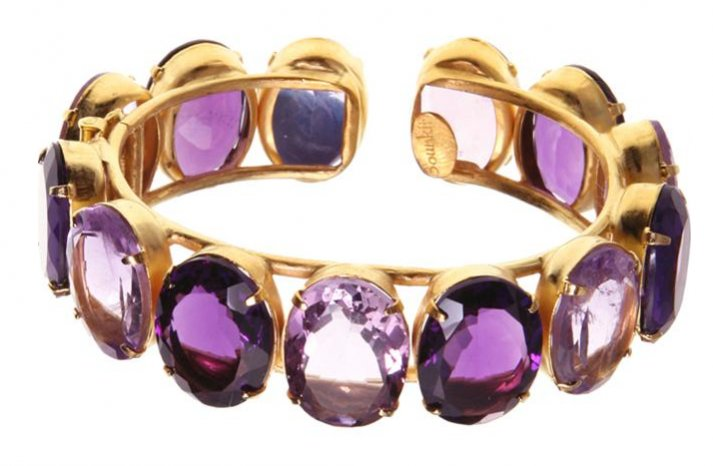 Bridal Bangle Bracelet Amethyst
