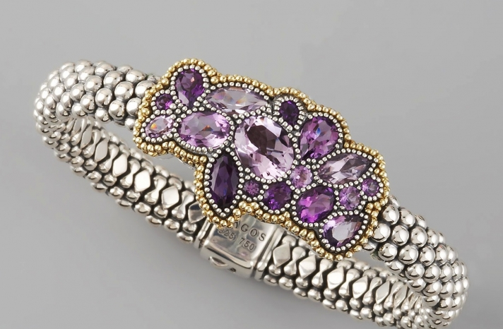 Gorgeous Wedding Jewelry Amethyst Bracelet