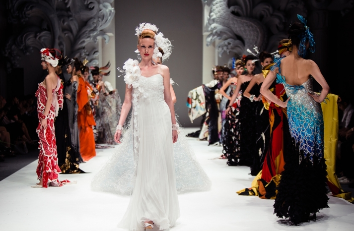 Dramatic Bridal Couture Yumi Katsura 2013 Wedding Dress Bridesmaid Gowns 5