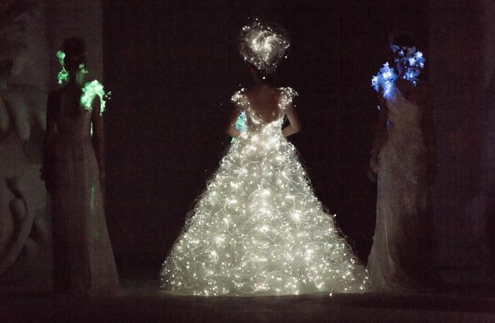 Dramatic Bridal Couture Yumi Katsura 2013 Wedding Dress electric