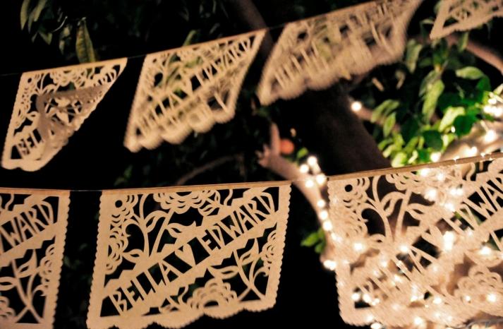 Personalized Laser Cut Wedding Garland