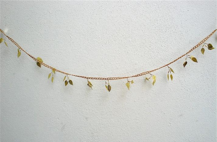 Elegant Wedding Decor Gold Leaf Garland