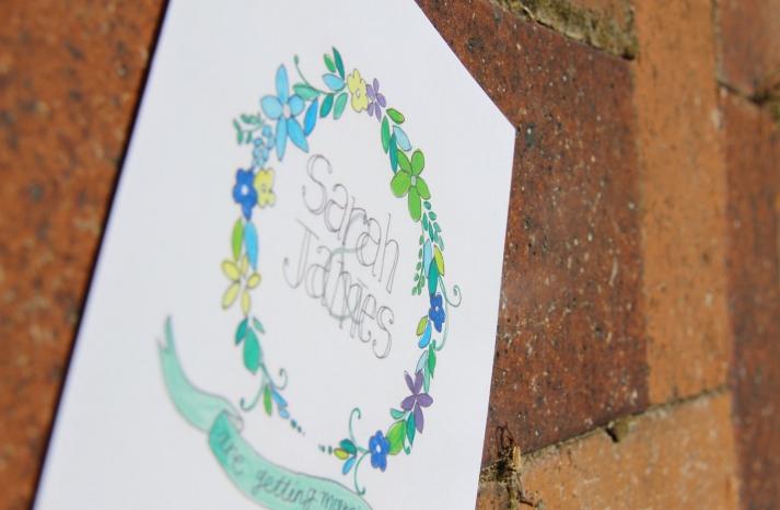 Romantic Illustrated Wedding Invitation