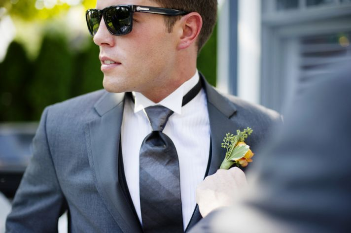 Dapper Groomsmen wearing sunglasses