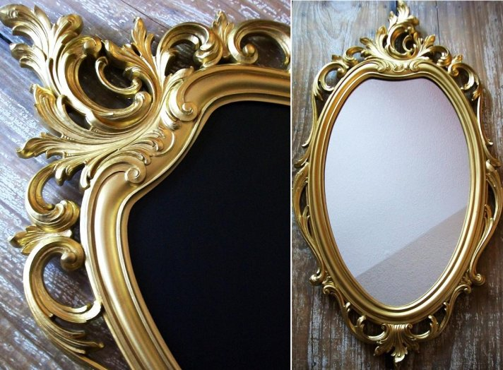 Vintage Wedding Reception Decor Chalkboard Mirrors
