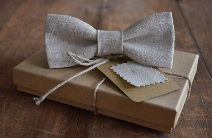 Linen Bow Tie for Eco Grooms