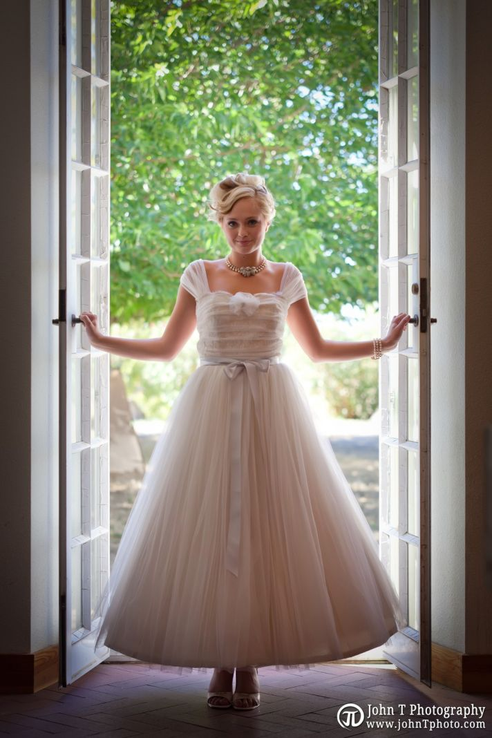 1950s inspired wedding dress Yolanda