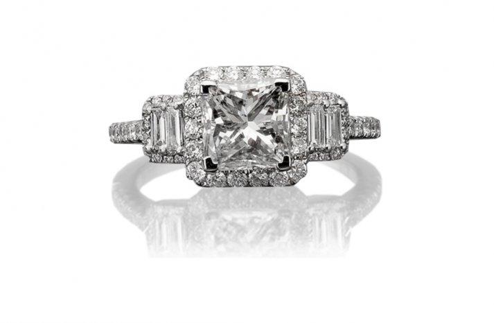 Cushion Cut Vintage Engagement Ring