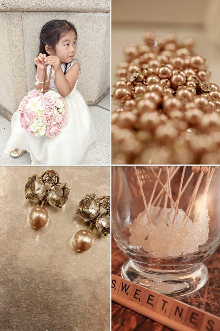 Elegant Real Wedding in California Bridal Bling Cute Flower Girl