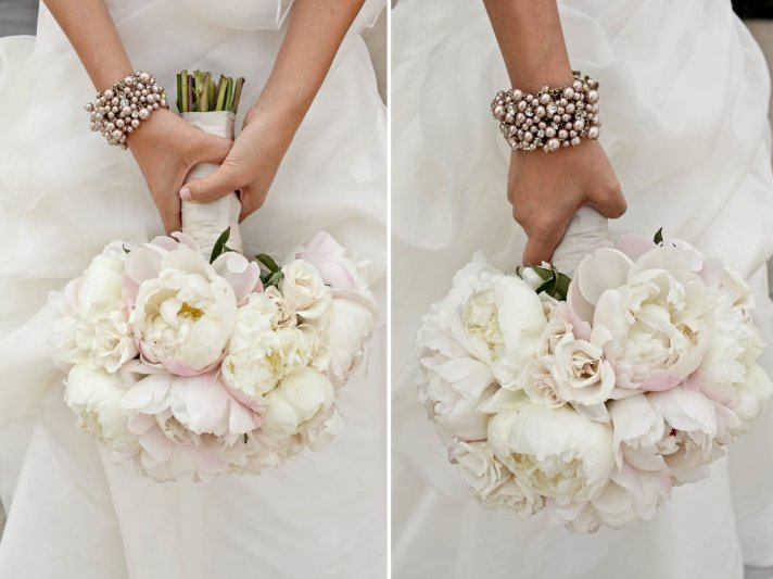 Beautiful Peony Bridal Bouquet Soft Ivory Light Pink