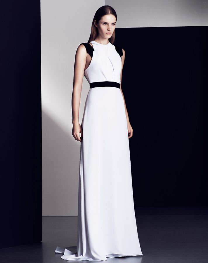 White aisle style inspiration from pre fall 2013 designer for White wedding dress with black accents