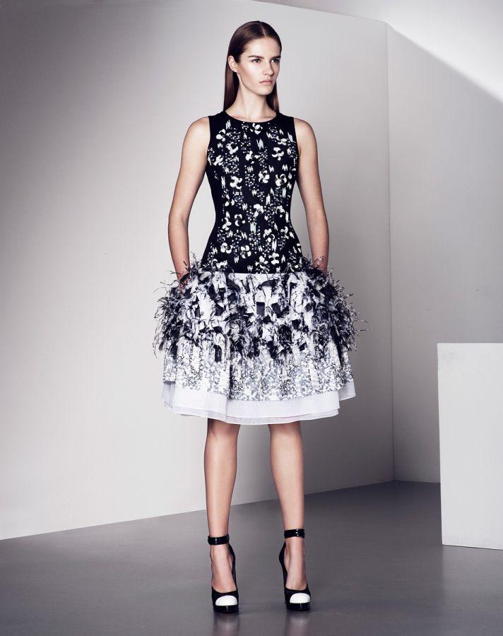 Modern Sleek Wedding Dress with Black Accents