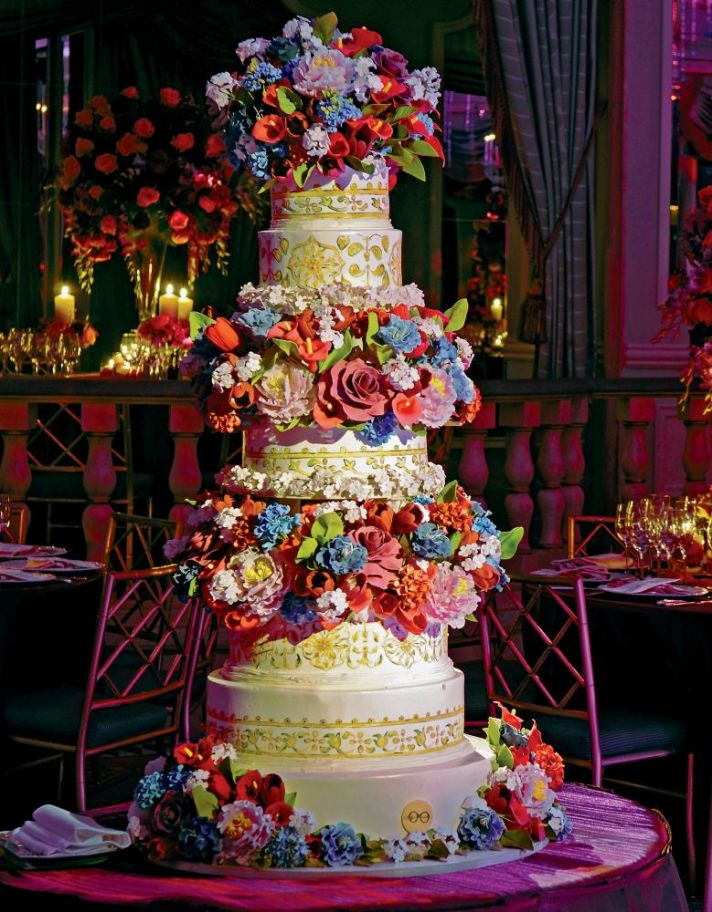 Bold Ornate Wedding Cake by Sylvia Weinstock