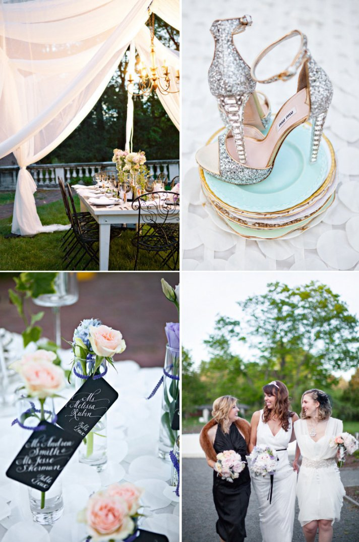 Glamorous great gatsby wedding inspiration onewed for Great decor