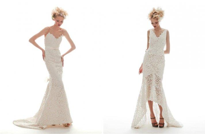 Elizabeth Fillmore Wedding Dress Spring 2013 Bridal Lace Mermaid