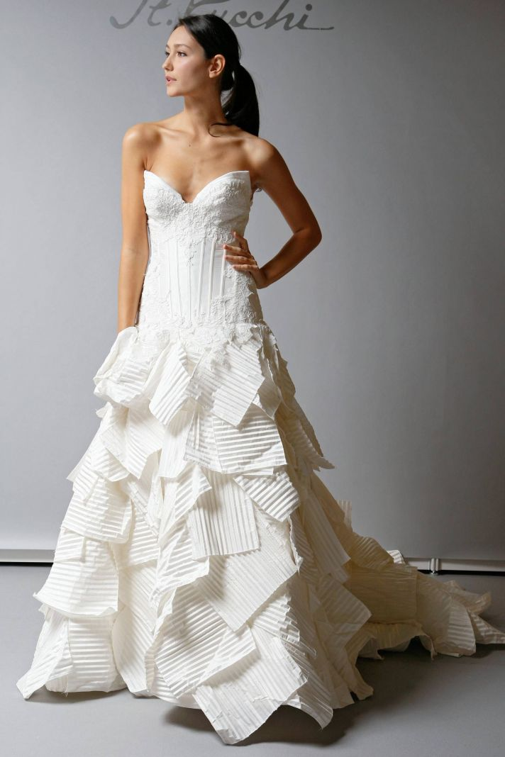 10 beautiful 2013 wedding gowns by st pucchi onewed for Design wedding dress online