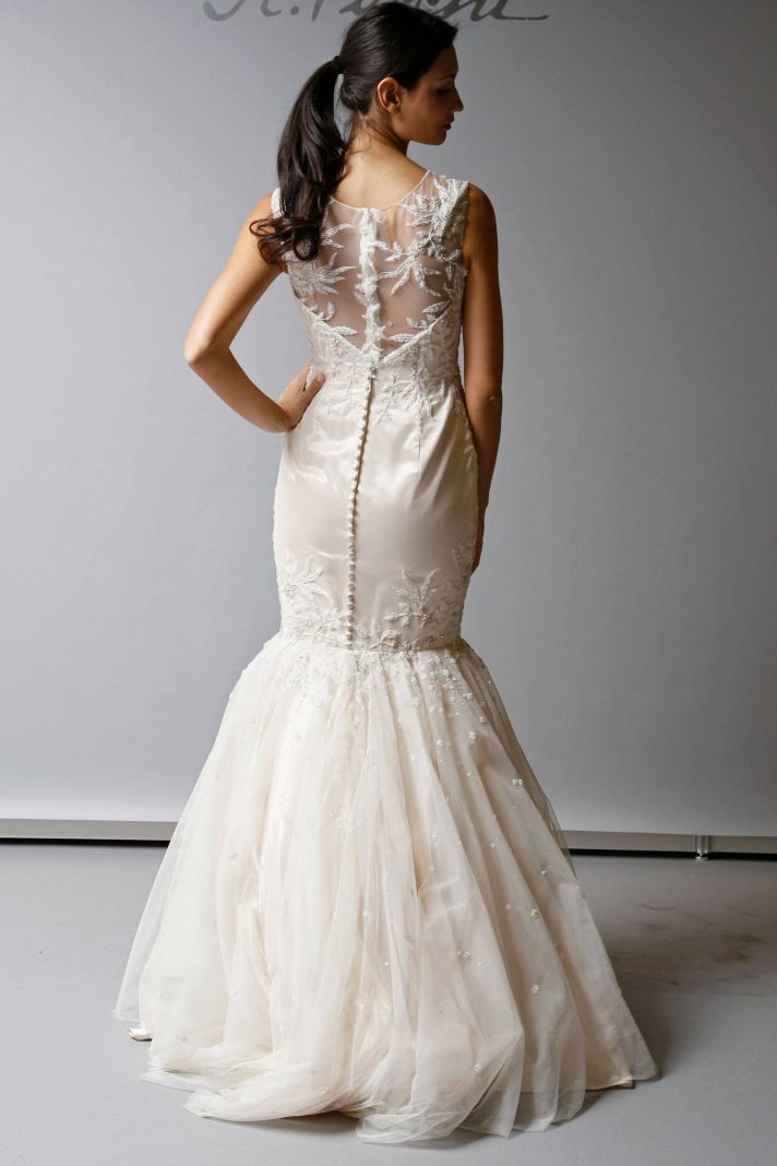 2013 Wedding Dress St Pucchi Bridal illusion neckline trumpet