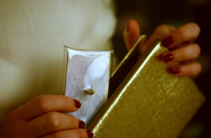 DIY Bridal Clutch Gold