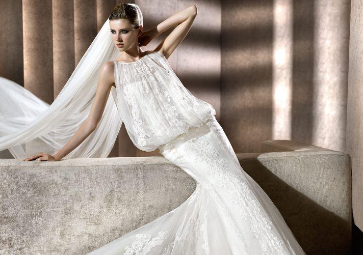 Lace Wedding Dress by Manuel Mota for Pronovias