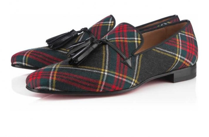 Plaid Shoes for the Groom