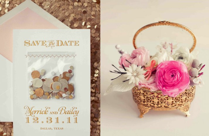 NYE Wedding Ideas Gold and Peony Pink