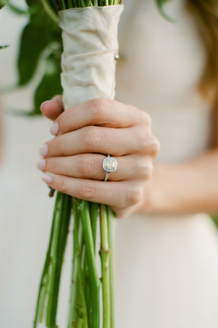 Bride Shows Off Diamond Engagement Ring