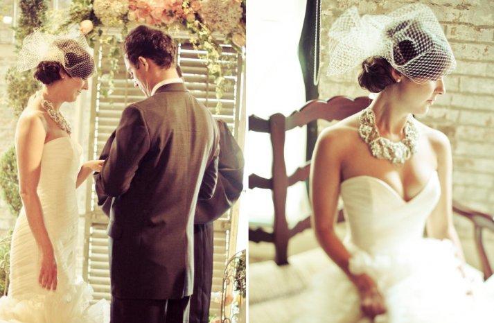 Classic Bridal Veil Birdcage Hair Accessory