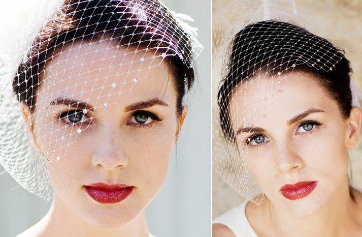 Crystal Embellished Birdcage Bridal Veil