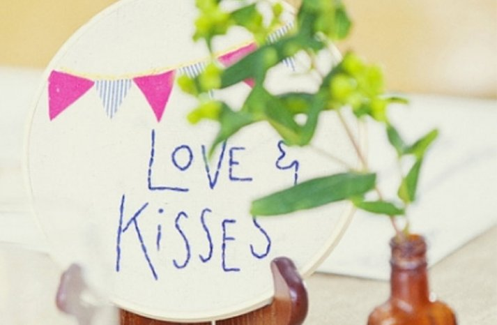 Hand Stitched Wedding Signs Table Numbers