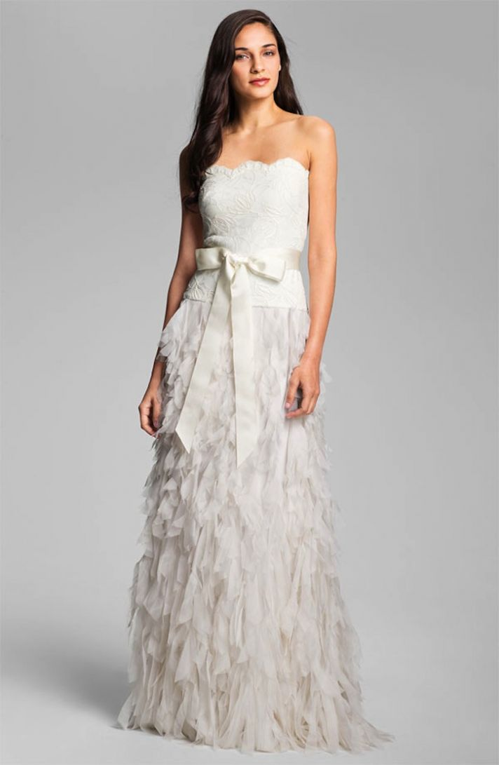 Tadashi Shoji Wedding Dress Strapless Romantic