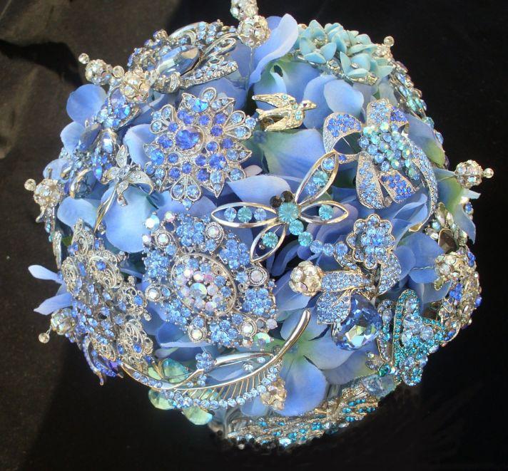 Beautiful Periwinkle Blue Bridal Bouquet