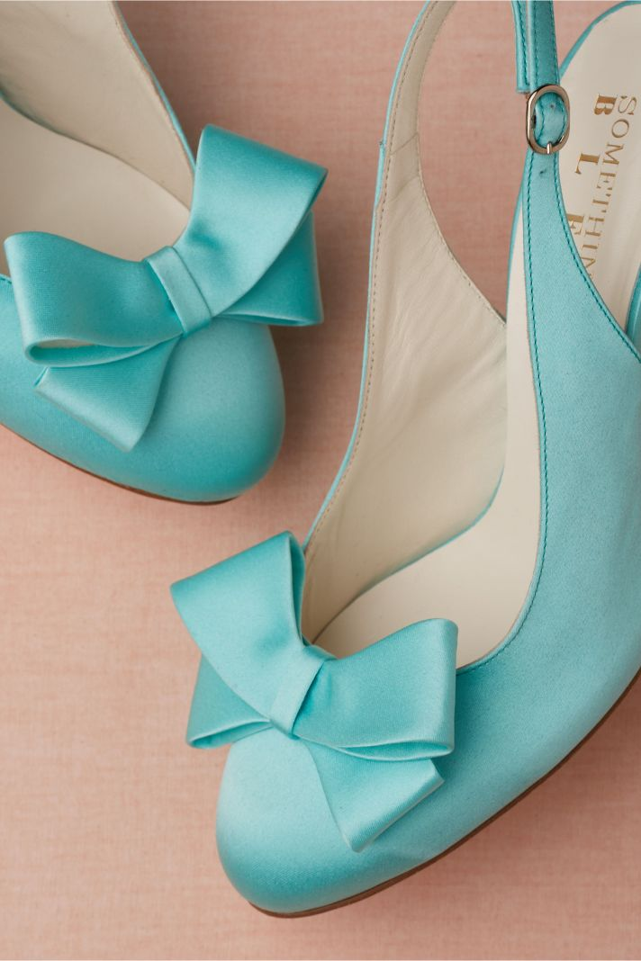 Turquoise Blue Wedding Shoes by BHLDN