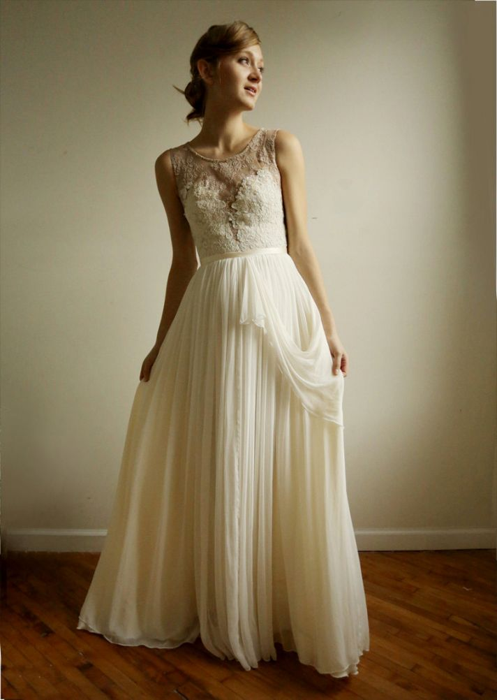 Favorite Illusion Neckline Wedding Gowns of 2013 | OneWed
