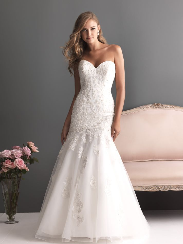 Allure Bridals Wedding Dress Bridal Gown Romance Collection Sweetheart 2613F