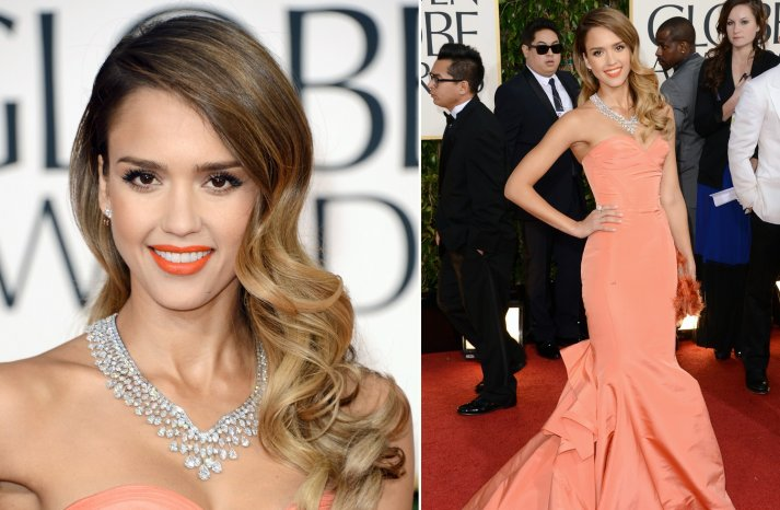 Old Hollywood Glam Wedding Hair Jessica Alba Golden Globes 2013
