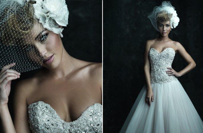 2013 Sweetheart Neckline Wedding Dresses Allure Couture C244
