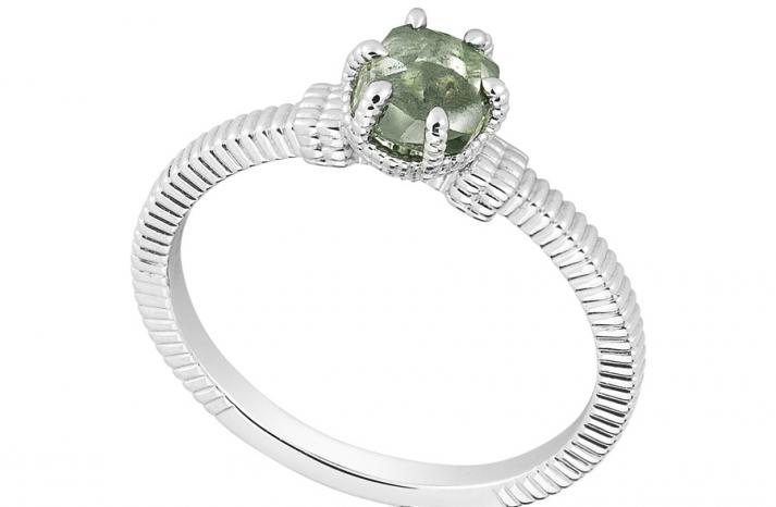 Unique Engagement Ring Diamond In The Rough 3D340 0 91 B