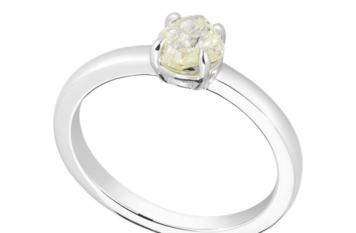 Unique Engagement Ring Diamond In The Rough 3D290 0 81 B