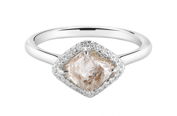Unique Engagement Ring Diamond In The Rough 3D095 1 52 A