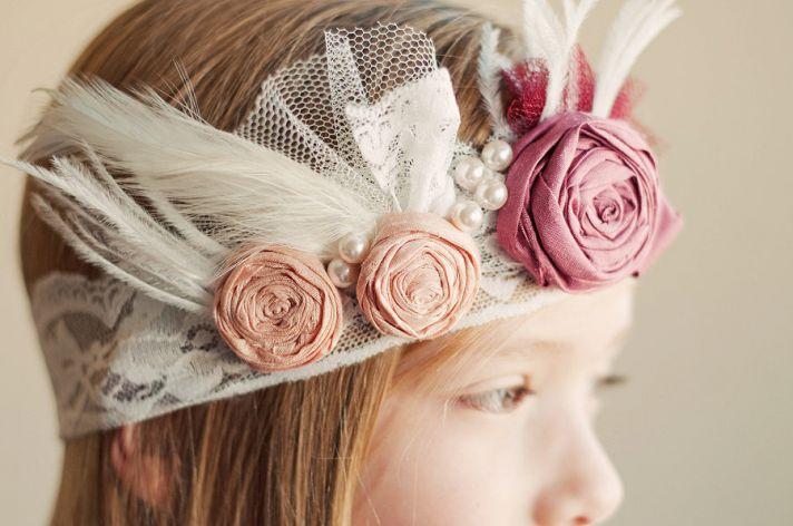 Great Gatsby Inspired Flower Girl Crown