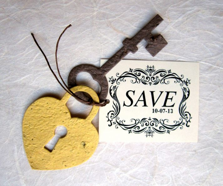 Unique Save the Dates Skeleton Key