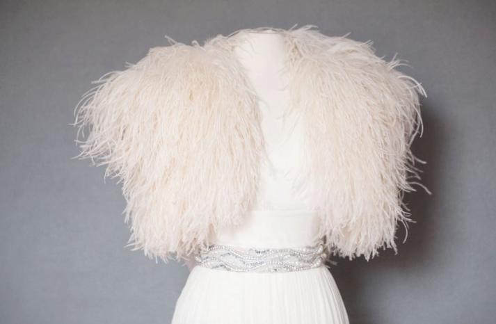 Ostrich Feather Bridal Shrug