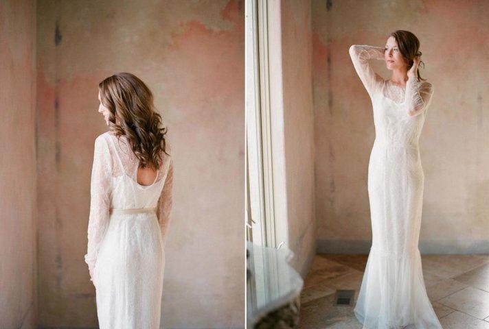 Romantic Lace and Chiffon Wedding Dress 2