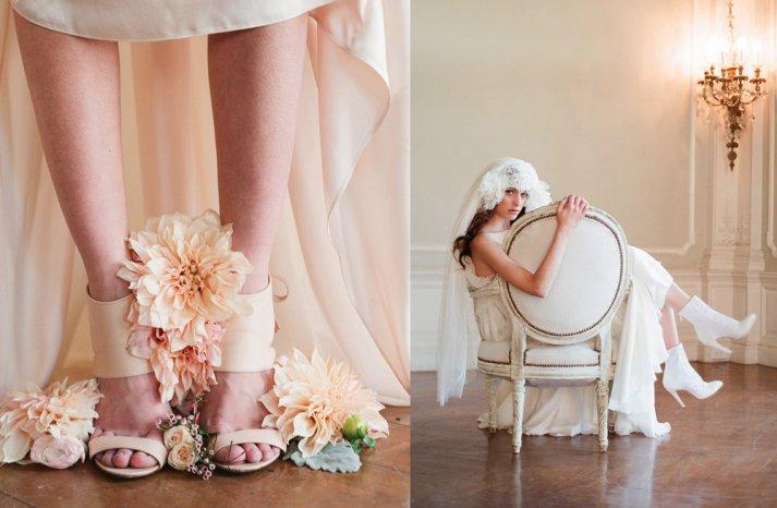 Romantic Wedding Shoes Low Heels and Booties