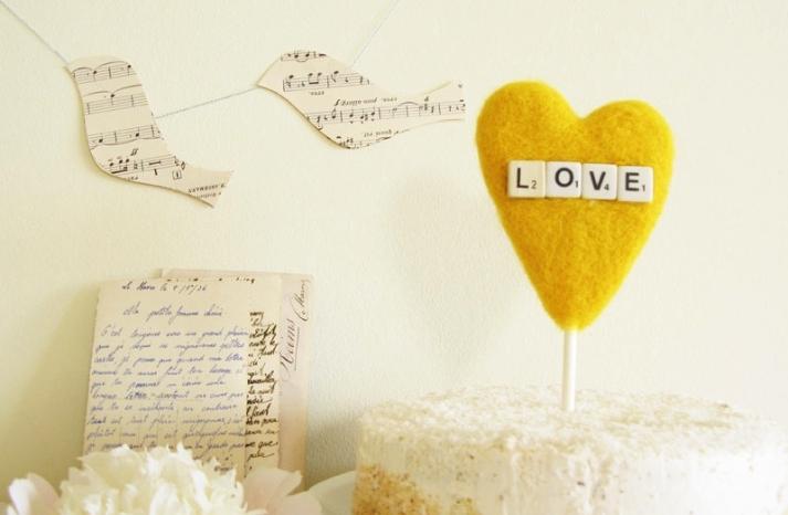 scrabble love wedding cake topper