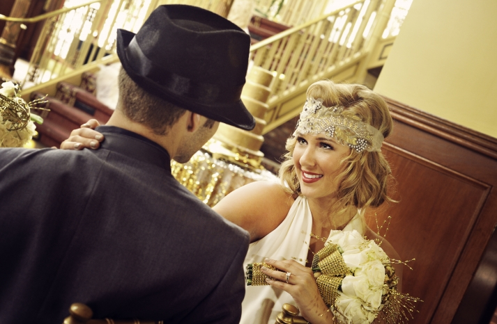 Great Gatsby Wedding Theme Bride and Groom