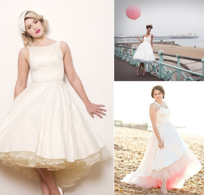 1950 Wedding Dress 19 Vintage s style bride vintage