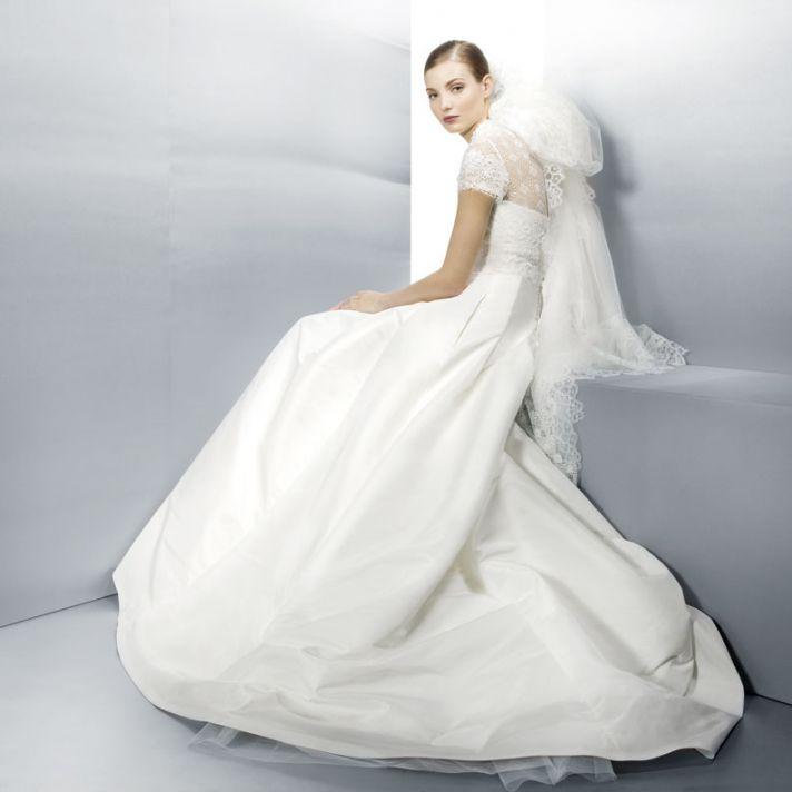 Jesus Peiro Wedding Dress Lace Cap Sleeves 3003