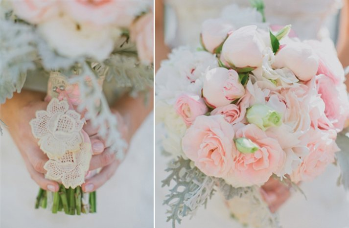 Romantic Light Pink Peony Wedding Bouquet